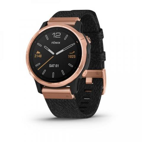 Fenix 6S Sapphire Black Rose Gold with Nylon Band