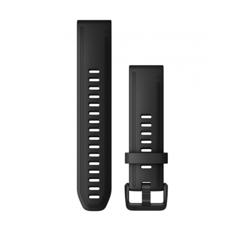QuickFit Band 20mm Black Silicone