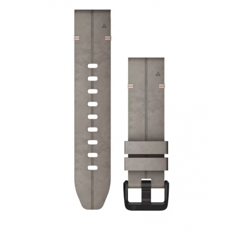 QuickFit Band 20mm Shale Gray Suede Leather