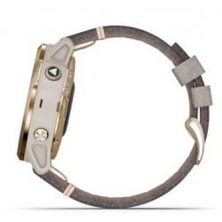 Fenix 6S Pro Solar Light gold with shale grey suede band