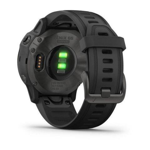 Fenix 6S Sapphire Carbon Gray DLC with Black Band