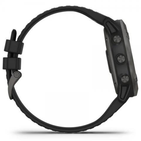 Fenix 6X Pro Solar Titanium Carbon Gray DLC with Black Band