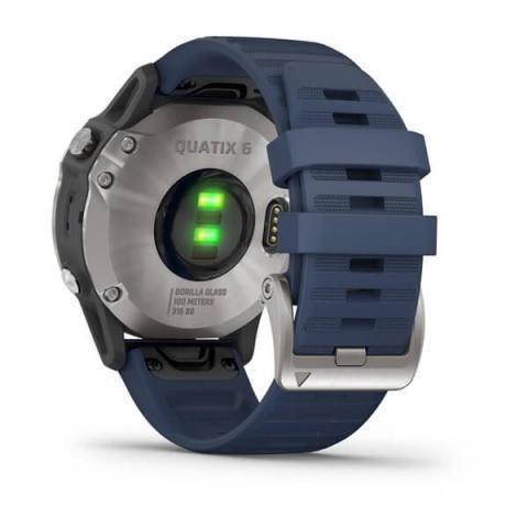 Quatix 6 Gray with Captain Blue Band