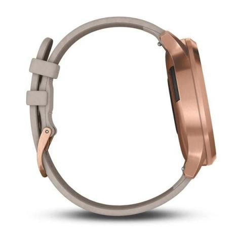 Vivomove HR Rose Gold Stainless Steel Case with Gray Suede Band