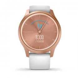 Vívomove Style Rose Gold Aluminum Case with White Silicone Band